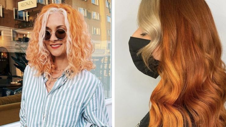 Embrace Autumn with this pumpkin spice hair colour trend