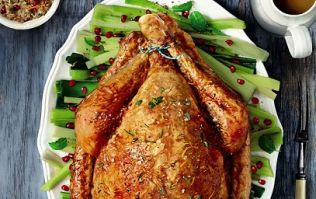 SUNDAY LUNCH: Turkey with orange, pomegranate, almond stuffing and orange glaze