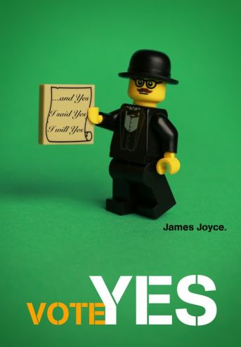 Giants of Irish culture are recreated in Lego to support the cause.