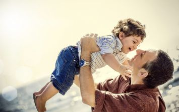 Minding the children is actually GOOD for Dad's health