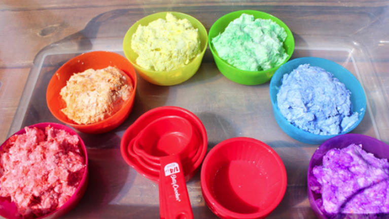 Kids will love this homemade CLEAN rainbow mud, and so will you