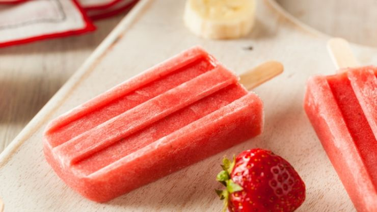 Soothing homemade ice lollies for teething tots... whatever the weather