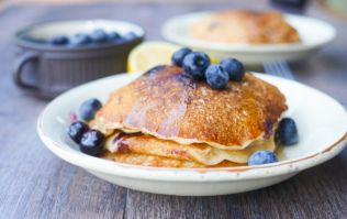 These 3-ingredient blueberry pancakes are what weekend breakfasts were made for