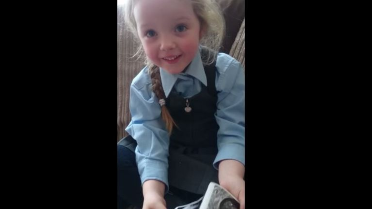 This little girl's reaction to her mum's pregnancy announcement is the cutest
