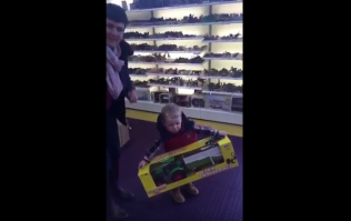 VIDEO: The Moment This 2-Year-Old Gets A New Toy Tractor Is Priceless