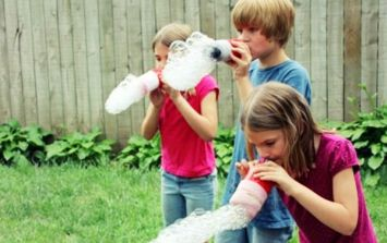 You haven't had fun In the sun 'til you've made a DIY rainbow bubble snake