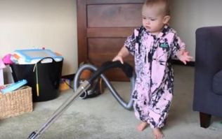 This 'How To Get a Baby To Clean The House' Video Is Equally Adorable and Hilarious