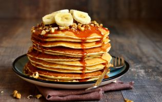 These banana bread pancakes are just what your Sunday morning needs