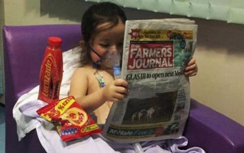 Brave Six-Year-Old Reading The Irish Farmer's Journal After Double Transplant Is Just The Cutest