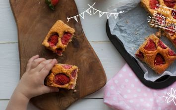 Enter The Tastiest And Healthiest Baked Treat EVER: Strawberry Blondies