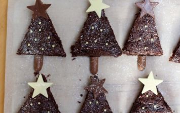 Celebrate December With A Tray Of Chocolate Christmas Tree Brownies