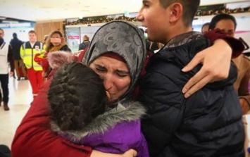 Syrian Woman Reunites With Her Younger Brother And Sister At Dublin Airport