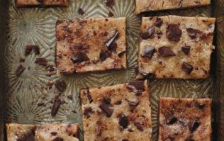 These easy to make raw cookie dough bars will satisfy your sweet tooth