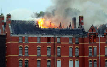 'Extensive damage...' One of Cork's most famous buildings is up in flames