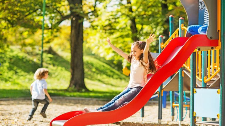 Why one mother has issued a warning about playground slides
