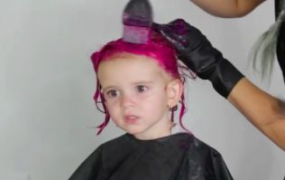 Mum defends her decision to dye her two-year-old daughter's hair PINK