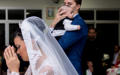 Bride praised online for breast feeding during her own wedding ceremony