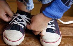 This little boy's shoe tying hack is actually GENIUS