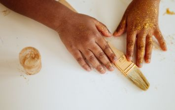 This trick for cleaning up glitter spills is actually GENIUS