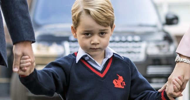 What sandwiches? Prince George's school lunch is very posh