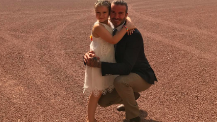 Sweet snap shows David & Harper Beckham's daddy-daughter bond