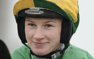 Champion jockey back in the saddle after giving birth 4 months ago