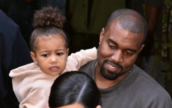 Looks like North takes after her dad when dealing with paparazzi