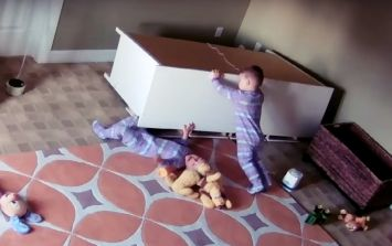 2-Year-Old Saves Twin Brother Trapped Under Fallen Dresser
