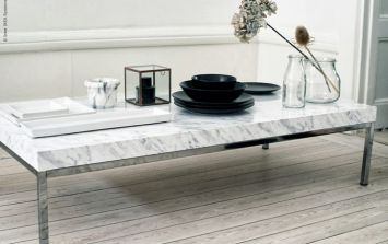 Easy weekend project: This marble-topped coffee table can be yours for less than €10