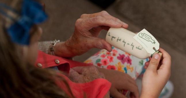 These special bottles are a baby gift with a heartwarming twist