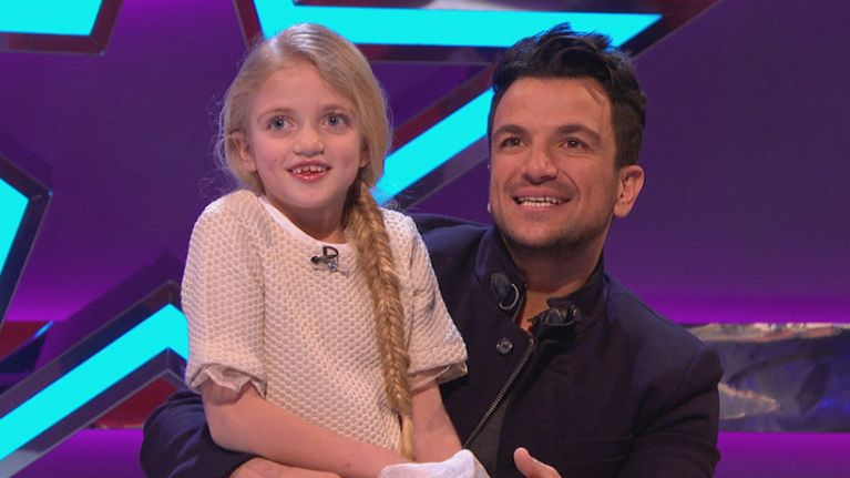 Princess is the image of her dad Peter Andre in this throwback pic