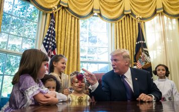 "Donald Trump just told a little girl she had ""no weight problems"""