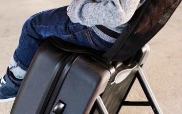 This genius suitcase transforms into a stroller for the airport