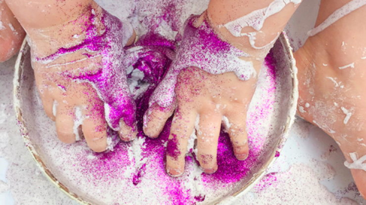 3-ingredient glitter slime that will entertain the kids for at least an hour