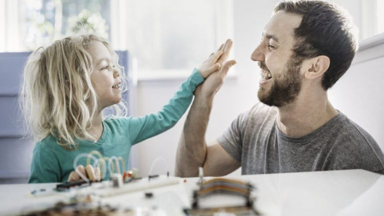 My child's father doesn't 'babysit' our children, he parents them