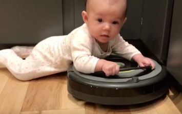 This little toddler has found an alternative to learning how to walk