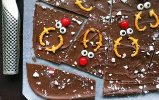 Reindeer chocolate bark is the festive treat the kids can help you make