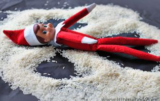 'I hugged you goodbye' - a really sweet way to end Elf on a Shelf with your child