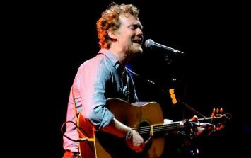 Glen Hansard was pulled into a chipper to sing on Stephen's Night