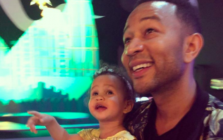 John Legend's video of Luna watching him on telly is simply too cute