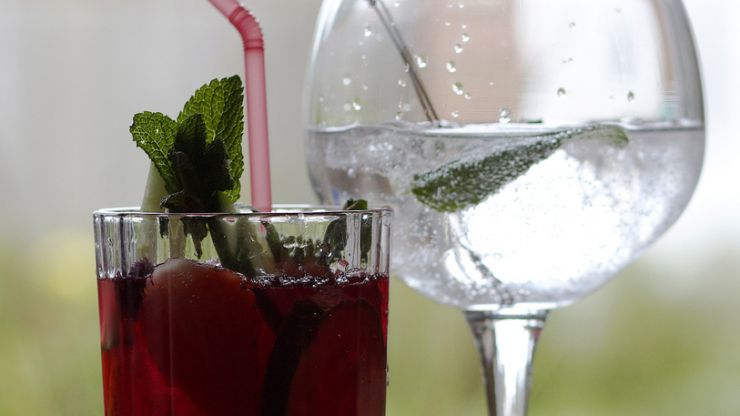 This strawberry cucumber infused gin is the stuff of cocktail dreams