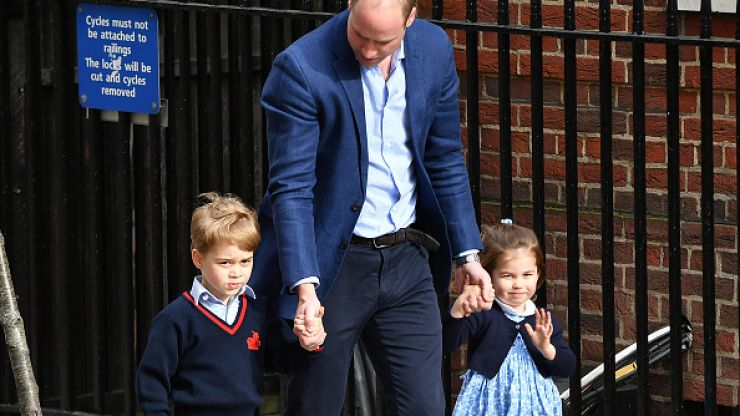 Did you spot this adorable moment between George and Charlotte?
