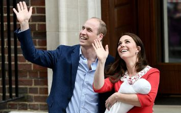 What William and Kate whispered to each other outside the hospital yesterday