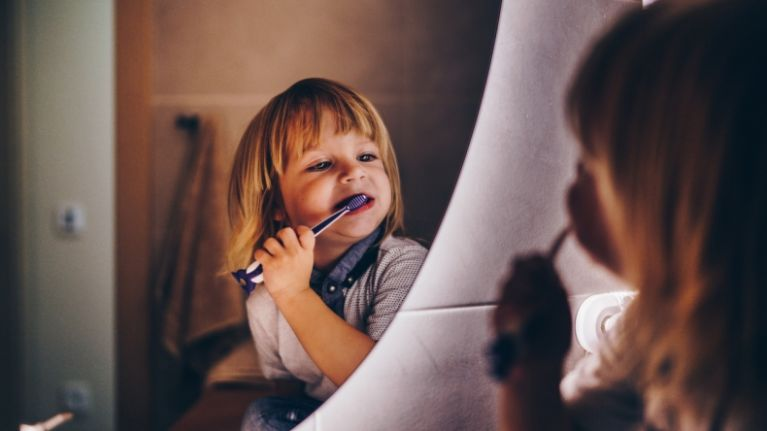 If your toddler has cavities it might be down to how much toothpaste they use