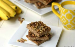 These 3-ingredient peanut butter banana bars are the perfect healthy after-school snack