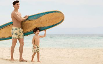H&M has a new 'Like Father, Like Son' collection of matching swim-wear for dads and boys