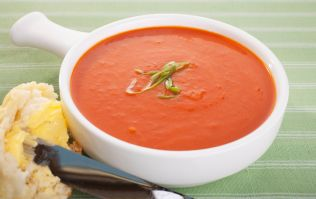 This tasty tomato soup with Italian scones recipe is perfect for an after school snack