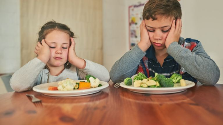 Four in ten parents have 'given up' on getting their kids to eat veggies