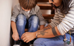 This little boy has a brilliant (and super easy) trick for tying his shoe laces