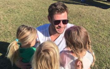 Chris Hemsworth dancing to Miley Cyrus with his kids is too adorable
